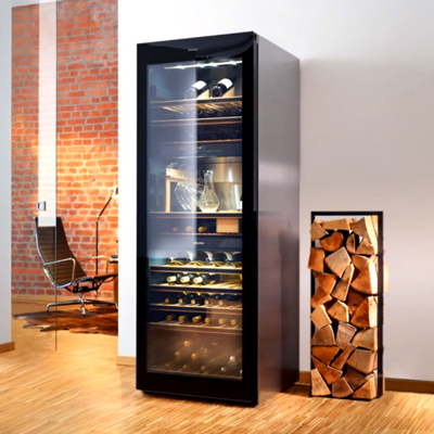 A freestanding wine conditioning unit like this is perfect for a wine connoisseur.