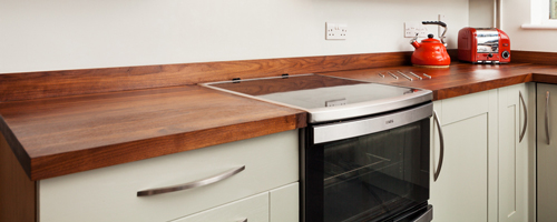 Our extensive range of solid wood worktops are available many different timbers.