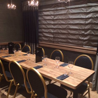 Here, a worktop has been used to create a large dining table for a restaurant.