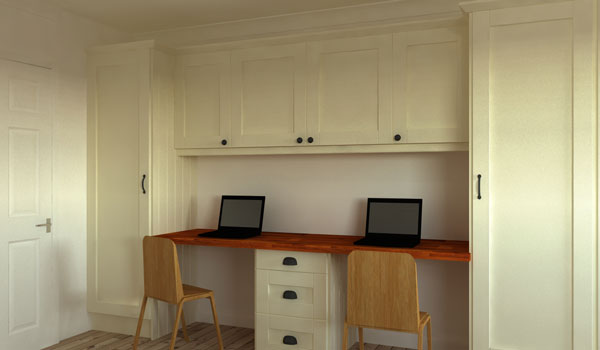 A desk has been included as per the customer's request for workspace.