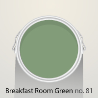 A bright, cheery shade, Breakfast Room Green is a bold choice in any home
