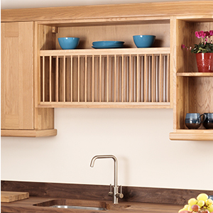 Bridging and Bi-Fold Cabinets for Solid Oak Kitchens