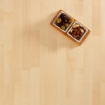 Our wonderfully bright maple worktops are known for their incredible hardness and durability.