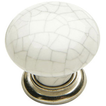 The ceramic Edison knob from our excellent range of knobs and handles solid wood kitchens.