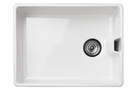 If you would prefer ceramic, this Reginox Contemporary Belfast sink looks more modern than most classic butler sinks