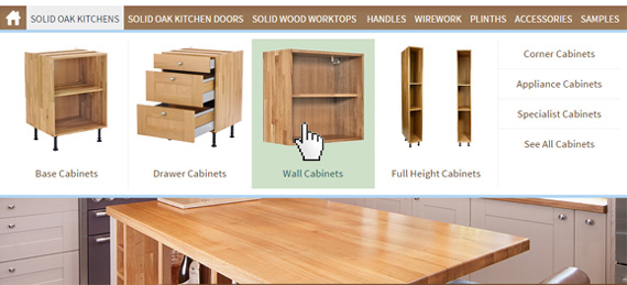 Choosing Wall Cabinets for Oak Kitchens