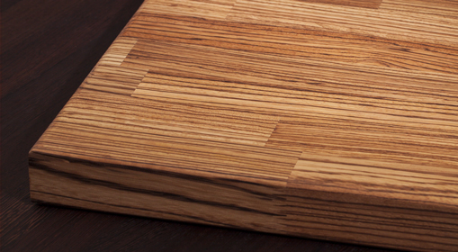 Zebrano hardwood is incredibly hard-wearing - a perfect timber for solid wood chopping boards.