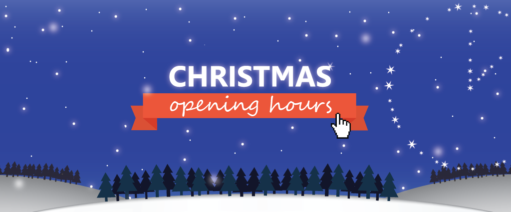 Click to find out this year's Christmas opening hours.