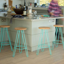 These colourful bar stools from NotontheHighStreet.com are a fun way to add an air of modernity to your kitchen