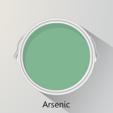 Colour of the month: Arsenic solid oak kitchens.