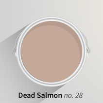 Farrow and Ball's Dead Salmon is an autumnal shade for kitchens.