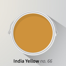 Farrow & Ball's India Yellow is a rich yellow, perfect for brightening up kitchen cabinets.