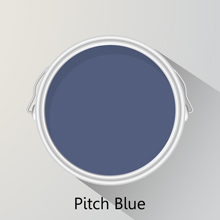 Colours of the month: Pitch Blue for solid oak kitchen.
