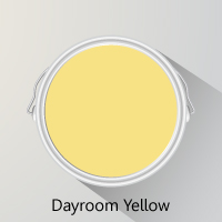 Farrow & Ball's Dayroom Yellow is a bright and sunny paint colour, reminiscent of daffodils