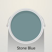 Colour of the month: Stone Blue solid oak kitchens.