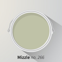 Farrow & Ball's Mizzle is a versatile shade of green that is free from cold blue pigments.