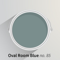 Oval Room Blue is a magnificent mid-blue hue that looks excellent paired with oak worktops in solid wood kitchens.