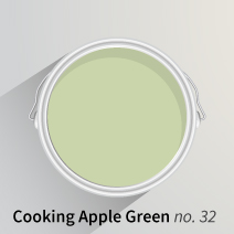 Cooking Apple Green is a beautifully organic shade for painting walls in wooden kitchens.