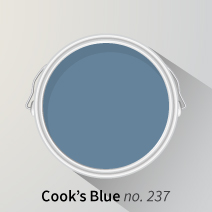 Cook's Blue is a fantastic colour for kitchens, and is even said to deter flies!