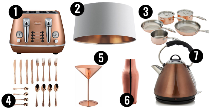 Using copper accessories is a fantastic way to add some warmth
