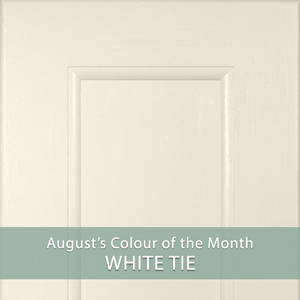 Oak Kitchens in White Tie: August's Colour of the Month