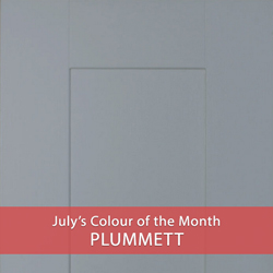 Plummett July's Colour of the Month for solid oak kitchens