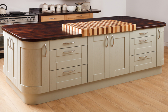 solid wood kitchen island how to create a kitchen island with solid oak kitchen 22063