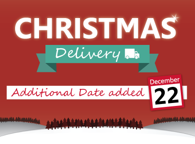 New Christmas Delivery Date Added!