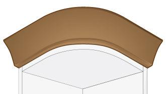 Kitchen Shaker Curved Cornice