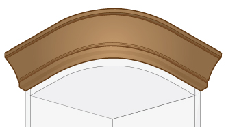 Kitchen Traditional Curved Cornice