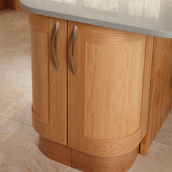 Curved Wall and Base Cabinets