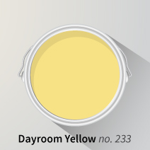 Dayroom Yellow is a delightfully light shade for brightening kitchen walls and other areas of solid wood kitchens.