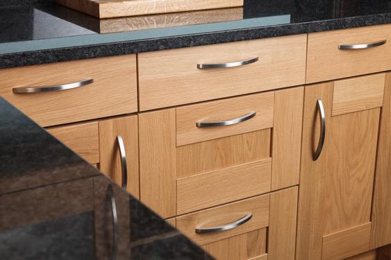 There are a number of door and drawer options available for our solid oak base cabinets