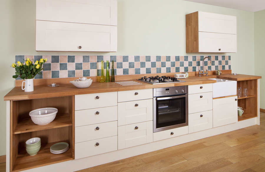 Solid oak wood kitchen unit doors and drawer fronts for Cost of new cabinet doors and drawers