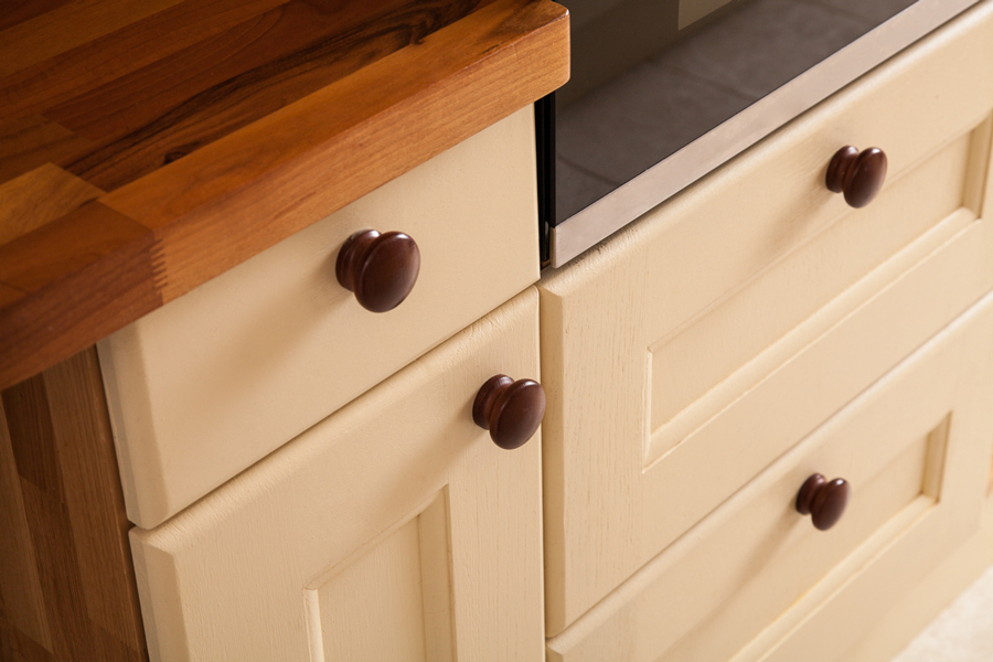 Kitchen Drawer Cabinets Oak Shaker Effect