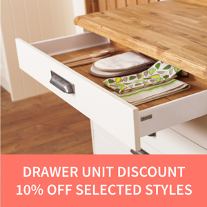 10% Off Drawer Units Solid Wood Kitchens