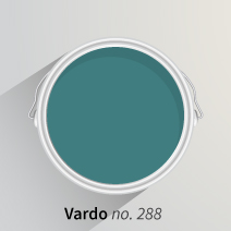 Eye-catching Vardo by Farrow & Ball is sure to add life to any kitchen.