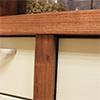 Solid oak pilasters