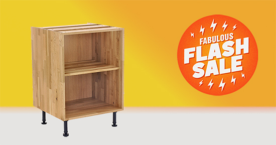 Save 10% on Solid Oak Kitchen Cabinets in our Website 'Fabulous Flash Sale'