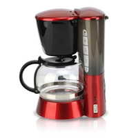 Red filter coffee machine.