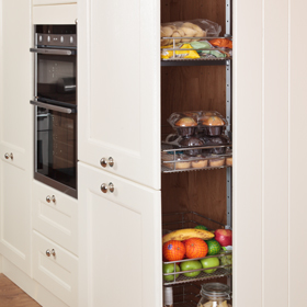 full height kitchen cabinets kitchen larder units amp storage cabinets solid wood 15663