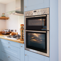 We also have full height cabinets to suit double ovens, too.