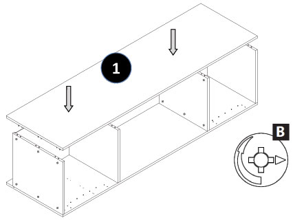 Full Height Oven Housing Cabinet Assembly Instructions - Step 6