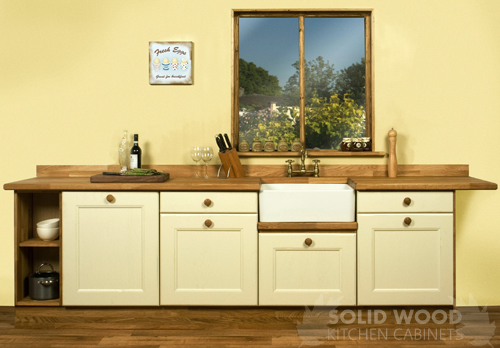 Solid Wood Kitchen Cabinets Installed