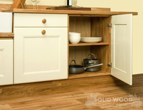 Base Cabinets Belfast Sink Unit Solid Oak Worktops