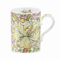 This Golden Lily China Mug is the perfect way to bring a little William Morris into your kitchen