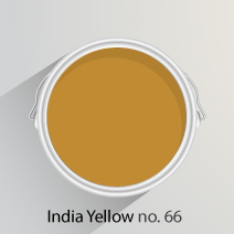 India Yellow is a strong mustard shade that is well-suited to kitchens