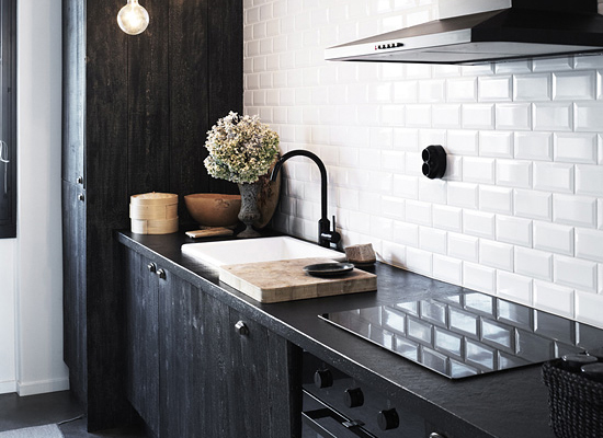 The trend for industrial kitchens has increased the popularity of darker cabinets
