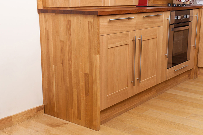 Installing Cabinet End Panels in Solid Oak Kitchens - Solid Wood ...