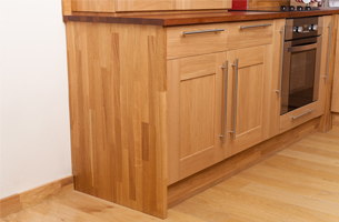 Solid oak end panel